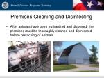 premises cleaning and disinfecting