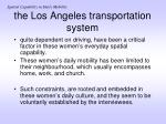 the los angeles transportation system