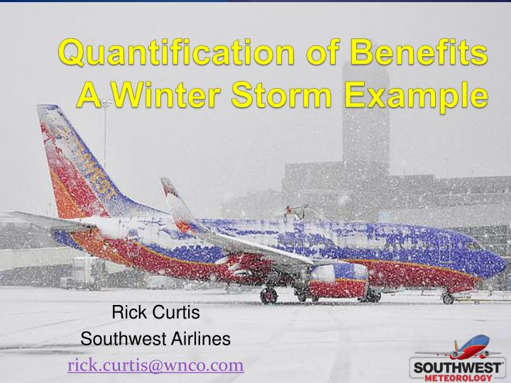 quantification of benefits a winter storm example n.