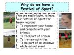 why do we have a festival of sport