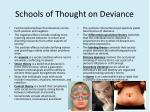schools of thought on deviance