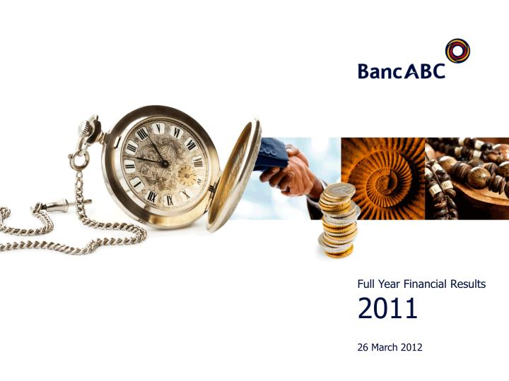 full year financial results 2011 26 march 2012 n.