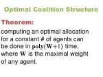 optimal coalition structure1