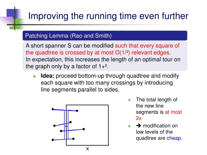 Improving the running time even further