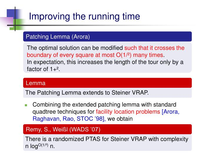 Improving the running time