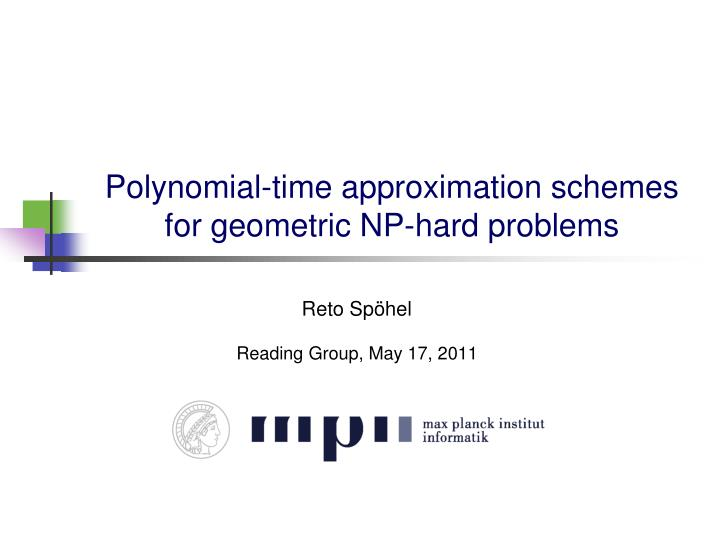 Polynomial time approximation schemes for geometric np hard problems