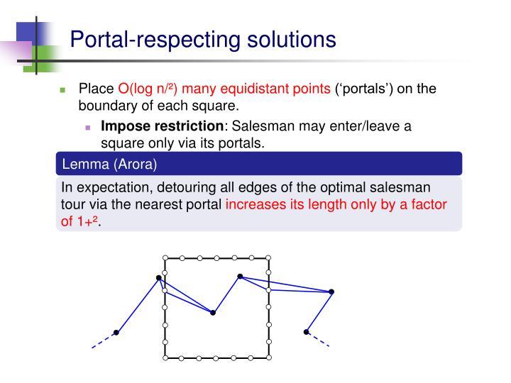 Portal-respecting solutions