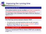 improving the running time3