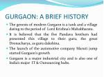 gurgaon a brief history