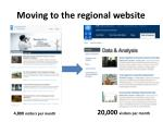 moving to the regional website
