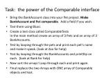 task the power of the comparable interface