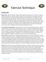 exercise technique