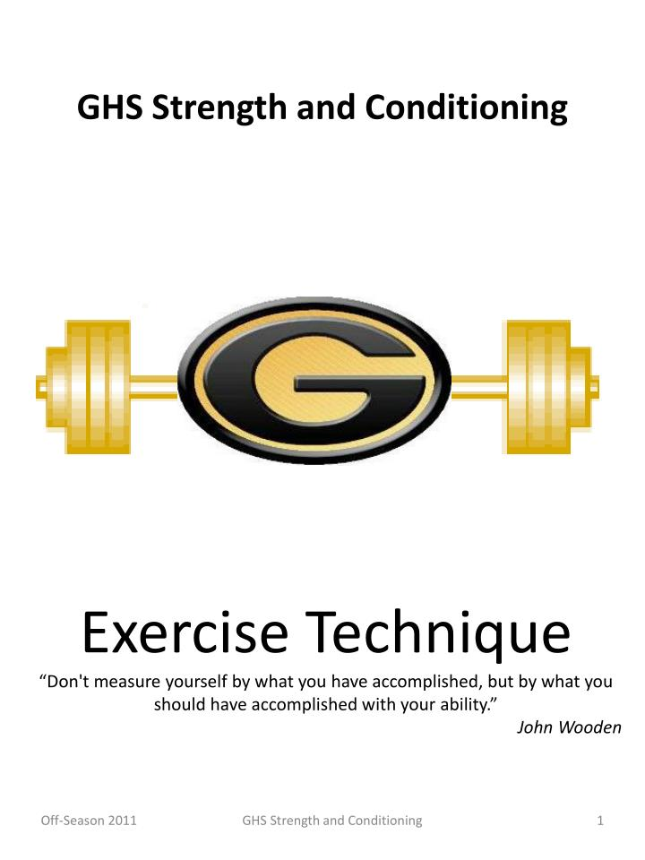 ghs strength and conditioning n.
