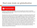 real case study on globalization