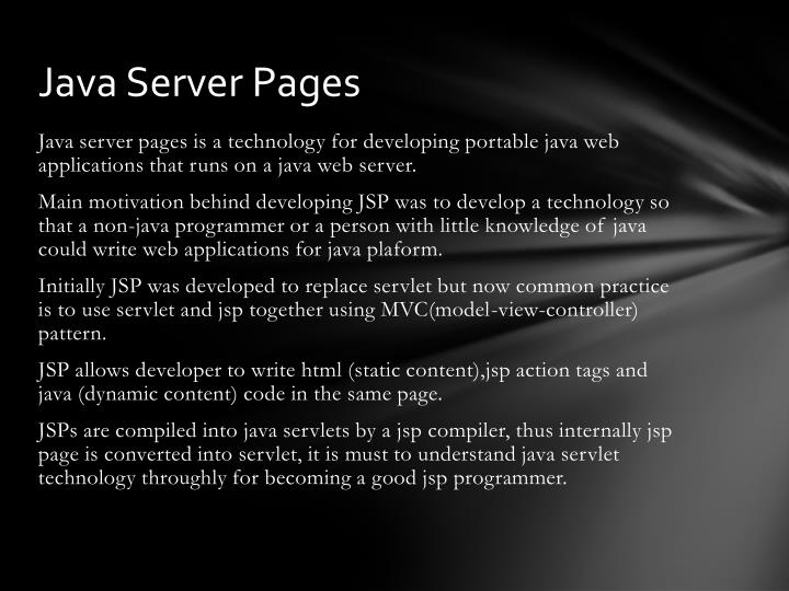 java server pages n.