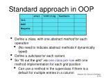 standard approach in oop