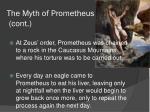 the myth of prometheus cont2