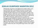 sekilas olimpiade maraton 2012
