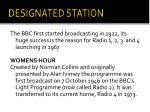 designated station