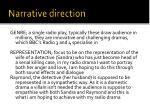 narrative direction