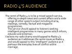 radio 4 s audience
