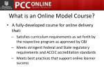 what is an online model course