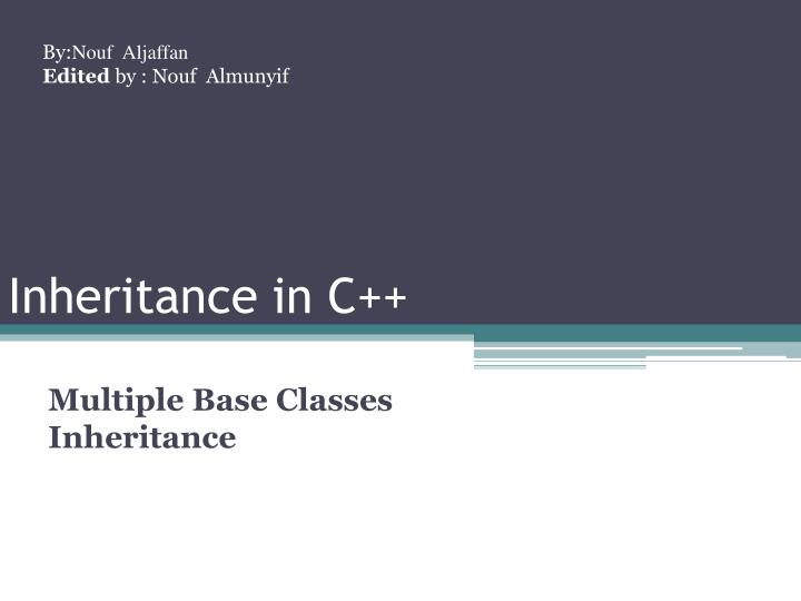 Inheritance in c
