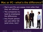 mac or pc what s the difference