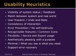 usability heuristics