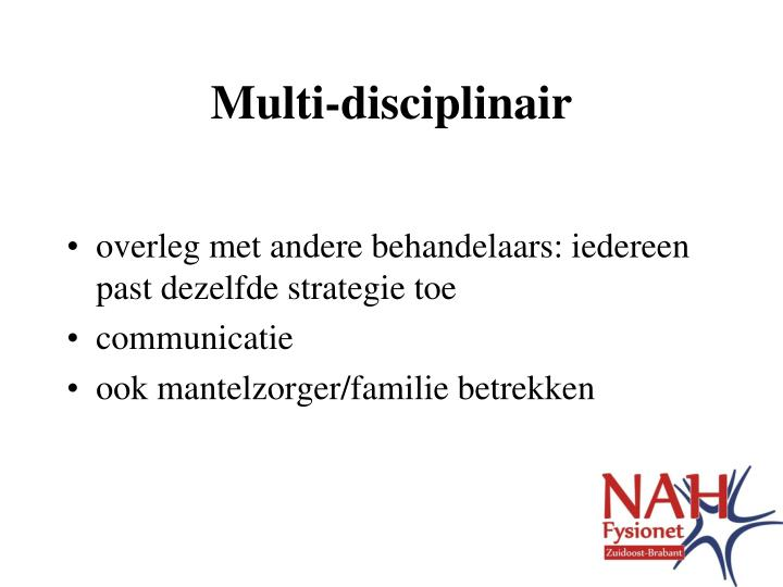 Multi-disciplinair