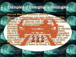 examples of emerging technologies