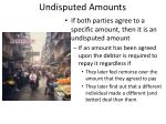 undisputed amounts