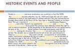 historic events and people