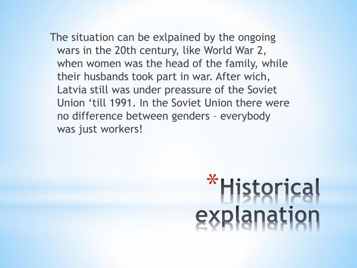 Historical explanation
