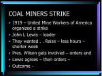 coal miners strike