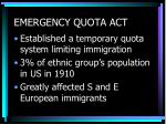 emergency quota act