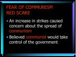 fear of communism red scare