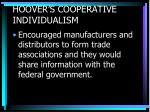 hoover s cooperative individualism