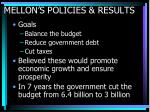 mellon s policies results