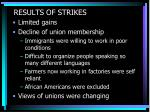 results of strikes