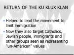 return of the ku klux klan