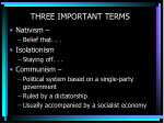 three important terms