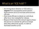what is an ice hold