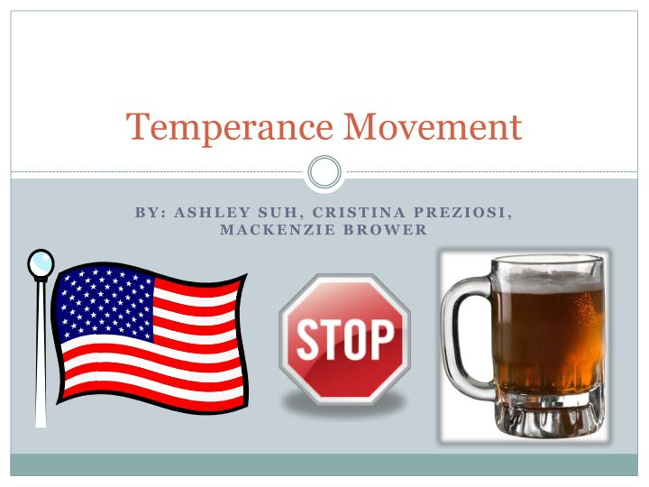 temperance movement n.