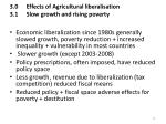 3 0 effects of agricultural liberalisation 3 1 slow growth and rising poverty