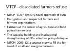 mtcp dissociated farmers refuse