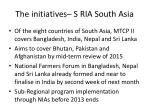 the initiatives s ria south asia