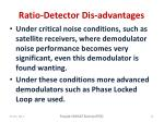 ratio detector dis advantages