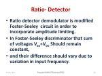 ratio detector