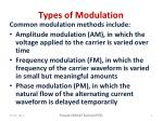 types of modulation